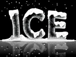 Ice text effect by Player-Designer