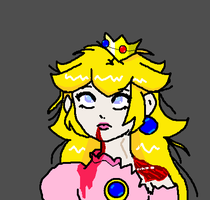 Zombie Princess Peach by Jago-Mizukami