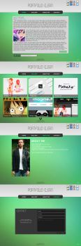 Clean Portfolio Template - PSD For Sale by mazeko