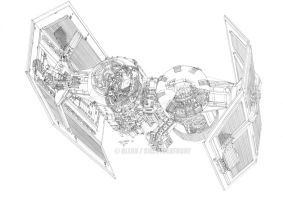 :TIE BOMBER 3D CROSS-SECTION: by Angelstorm-82