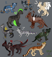 Mixed Adopts 2 - CLOSED by Subberz