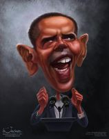 Caricature of B.Obama for election campaign. by creaturedesign