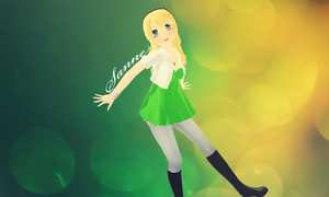 Yellow and Green by CherryCartoons