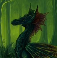 Swamp Wyrm by DragonAtaxia