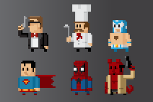 8 bit looking vector people 3 by gelerli