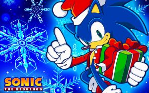 Christmas Sonic Wallpaper by SonicTheHedgehogBG