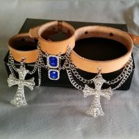 Crosses and Blue Pendant Accessories by passbyguy