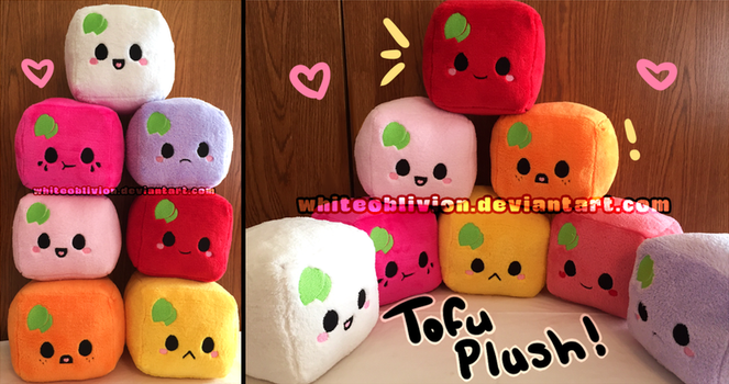 Tofu Plush by WhiteOblivion