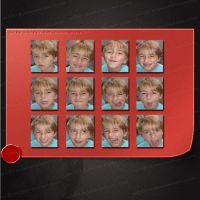 Set of 12 images of a boy with expressive faces by M10tje