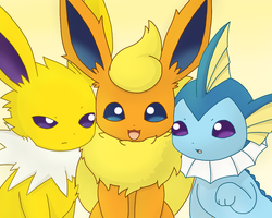Eeveelution Trio by PKM-150