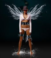Water angel by ThomasJergel