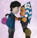 Lux and Ahsoka: Sweethearts [Request] by DiamondLegacy