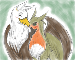 USUK Gryphons by pixie-rings