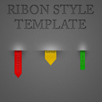 Ribbon Stype Template by wes615