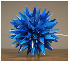 All Blue Kusudama by wastedlimes