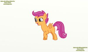 scootaloo is excited/now in color by Nazzaroth