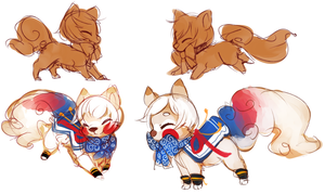 Royal milk tea sushidog concepts by Dragonpunk15