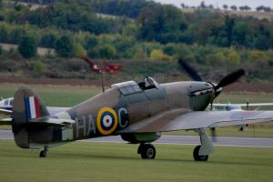 hawker hurricane HA C taxiing by Sceptre63