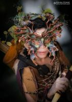 Dryad and Bow by Red-Dragon-Lord