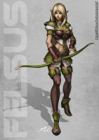 White elf female by Felsus