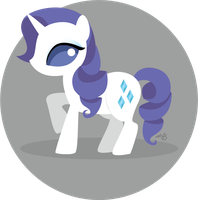 MLP - Rarity by oh-vobot