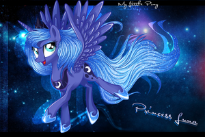 MLP: Princess Luna - Wallpaper by Ogniva