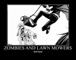 Zombies and Lawn Mowers. by kouichilove