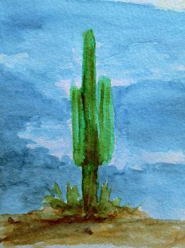 Lonely cactus by Cancer--chan