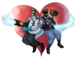 -Commission: Medic and Pyro- by Jolteonik