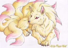ninetales in real-style by Pichu-Chan
