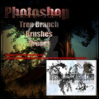 Tree Branch and bushes Brush for PS by FrostBo
