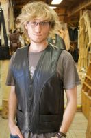 Leather Vest by A-Glass-Brightly