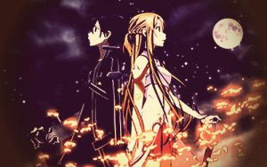 Kirito and Asuna by VitorAmorosoUzu
