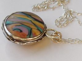 Lampwork and Silver Pendant by MarieCristine