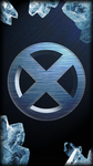 X-Men Logo - Iceman (Galaxy S4 Wallpaper) by zelgreywards