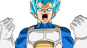 Vegeta SSJ Blue Fury by SaoDVD