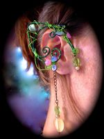 Garden Fairy Elf Ear Cuffs by jhammerberg