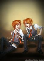 The Weasley Twins - 2011 by riotfaerie