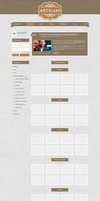 Artelias - arts and crafts shop website by vouxe