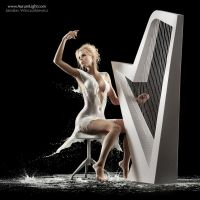 The Milky Harpist by Jaroslav-AurumLight