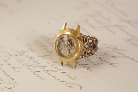 Steampunk ring by Archaic76