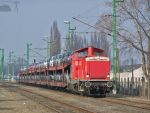 DB 212 in Gyor w. freight by morpheus880223
