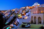 Santorini at night by Xiotis