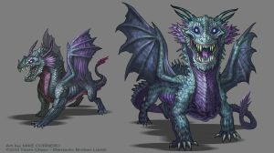 Dark Great Wyrm by MIKECORRIERO