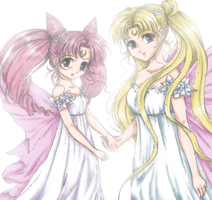Serenity and Chibiusa by Moonbeam-Knight