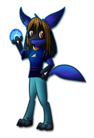 Commission: Chibi AuraMaster by SilverLucario12