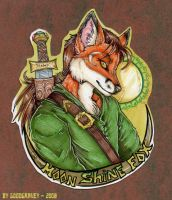 Moonshine Fox Badge by cheshiresphynx