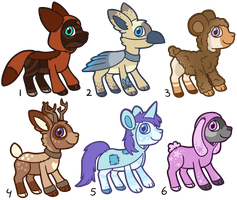 Animal costume Cloudaroo adopts OPEN by CatbunAdopts