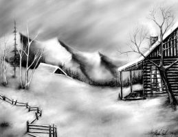 Winter Snow Landscape by pinsetter1991