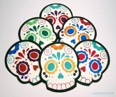 2012 Day of the Dead Paper by radishninja
